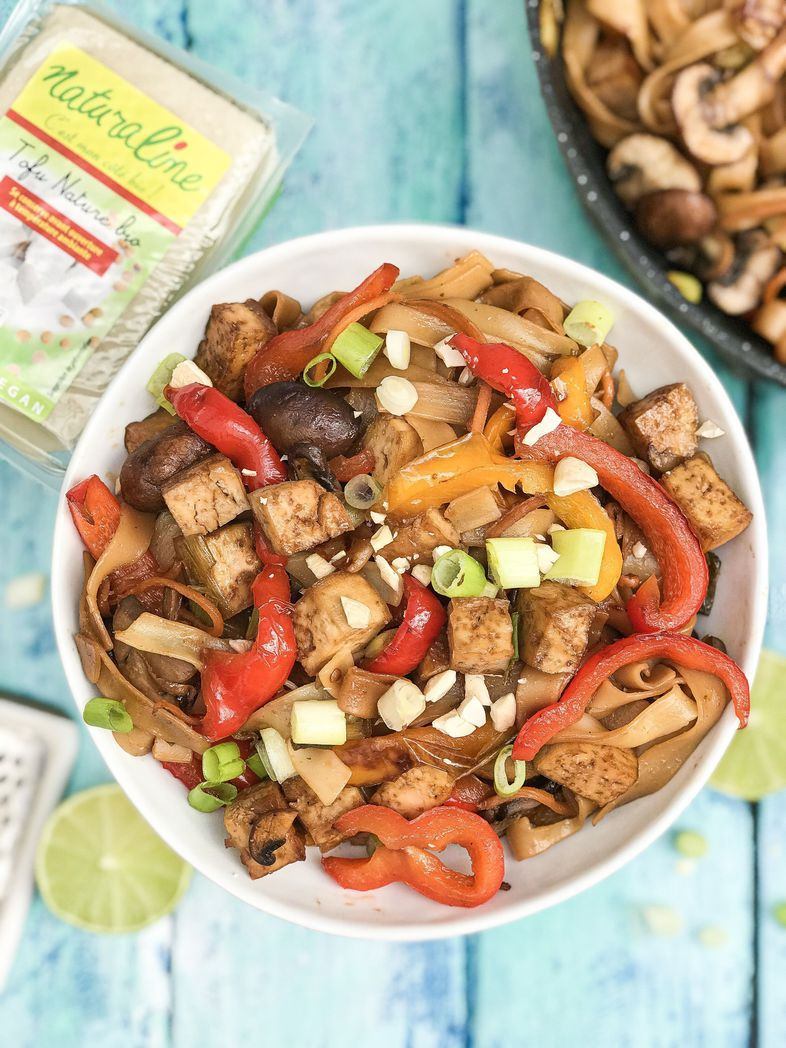 Tagliatelles au tofu et petits légumes