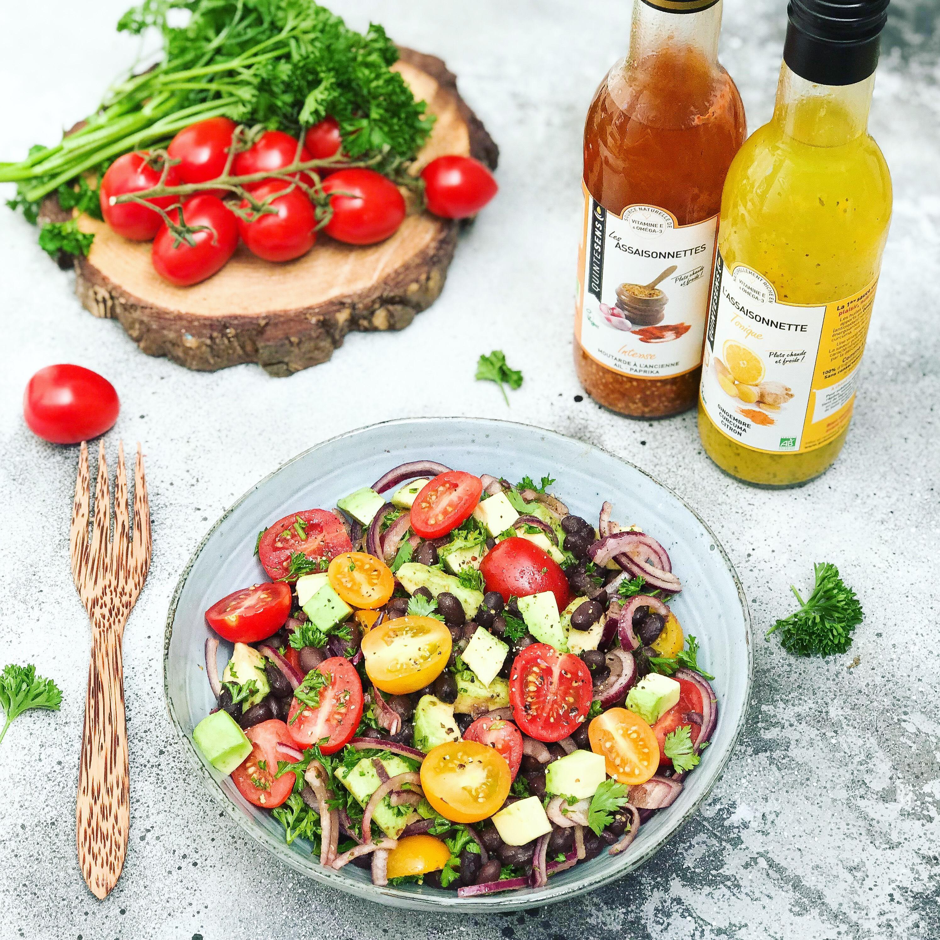 Salade fraîcheur d'été, vinaigrette au gingembre et citron