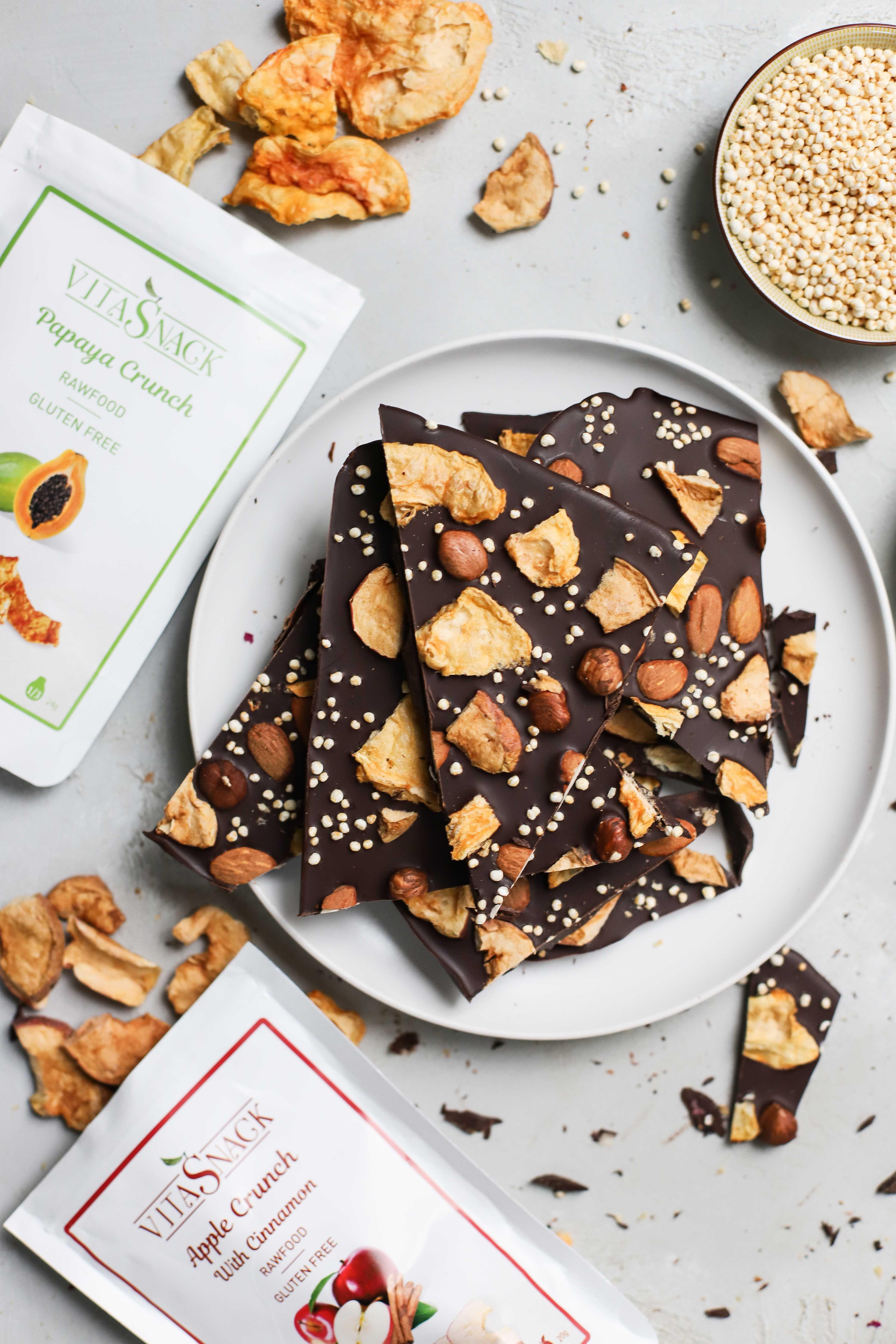 Chocolat noir aux fruits sec et noix