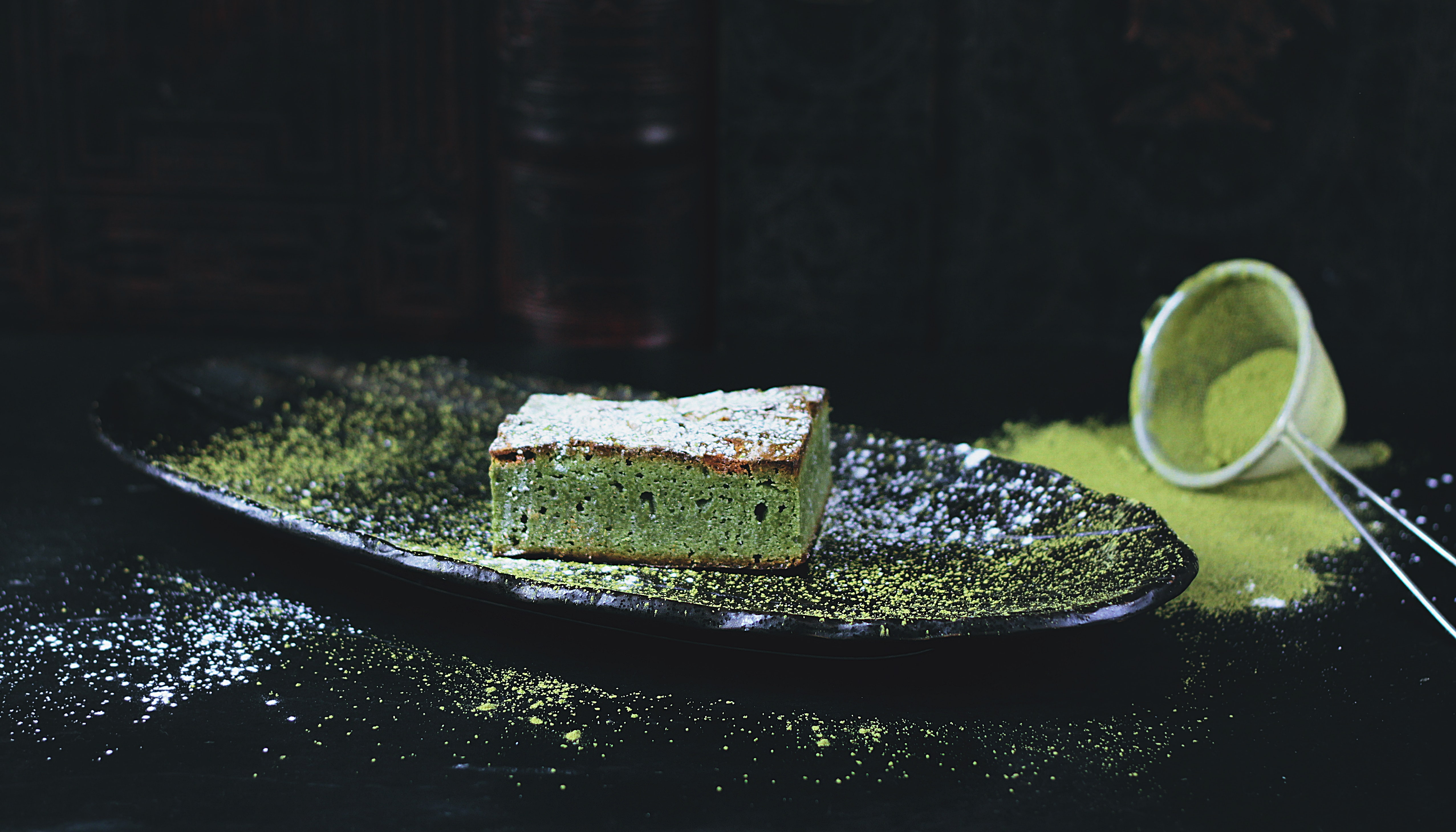 Brownie au thé matcha